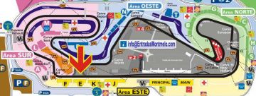 F1 ticket GP Spain Grandstand E